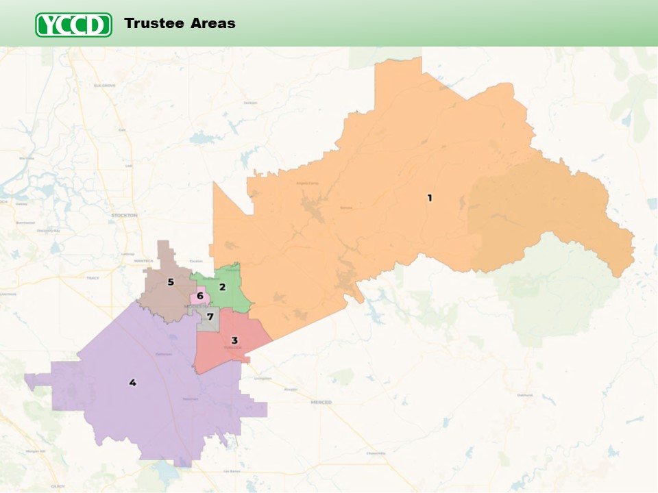 YCCD Trustee Areas