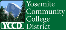 Yosemite Community College District logo and header graphic